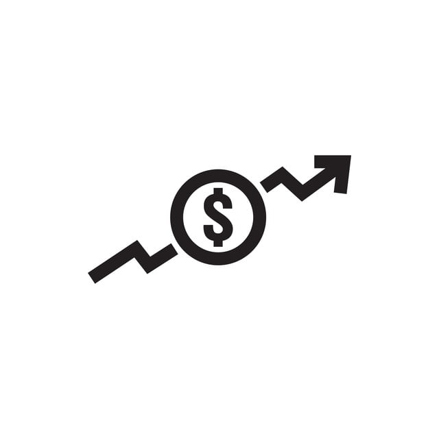 Dollar Increase Icon Money Symbol With Arrow Stretching
