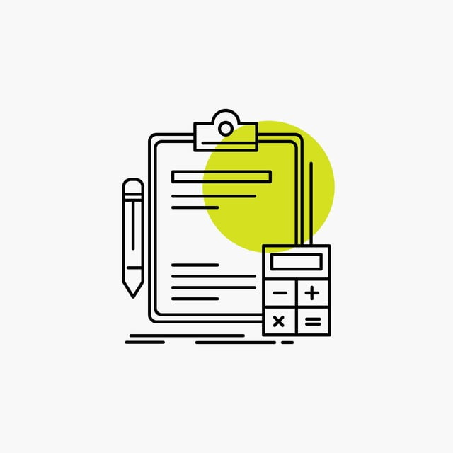 Accounting Banking Calculator Finance Audit Line Icon