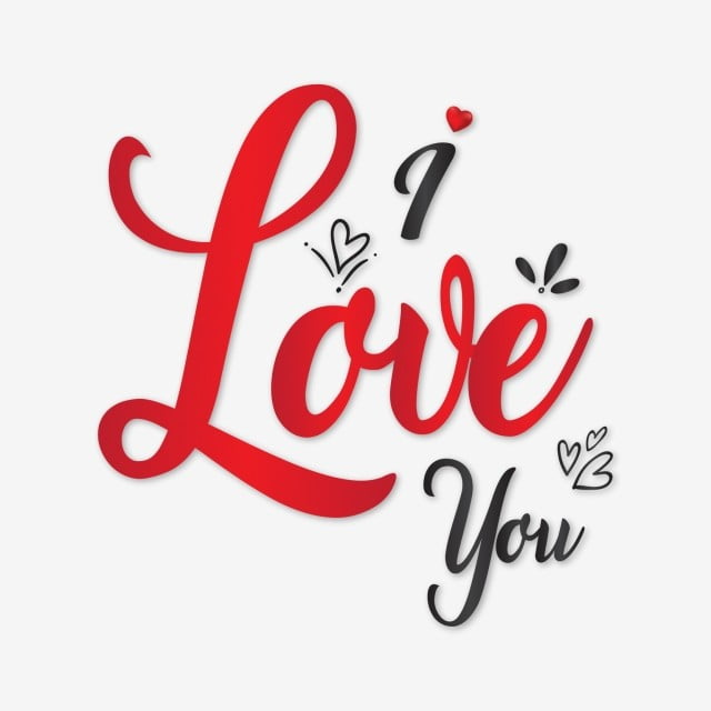 pngtree beautiful i love you typography on valentines theme png image 517446