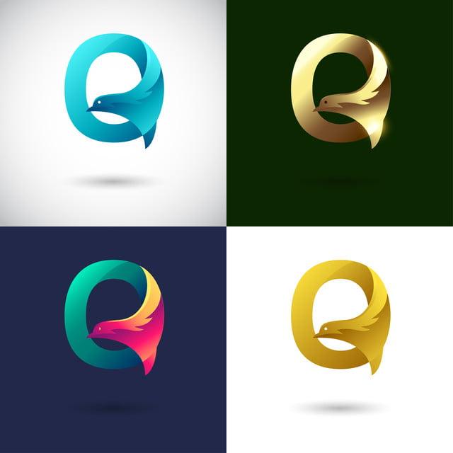 d5912760dde6 creative letter q logo design with different color version vector of bird  logo concept
