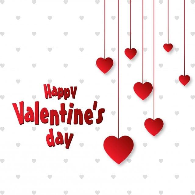 February banner. Happy valentine day love