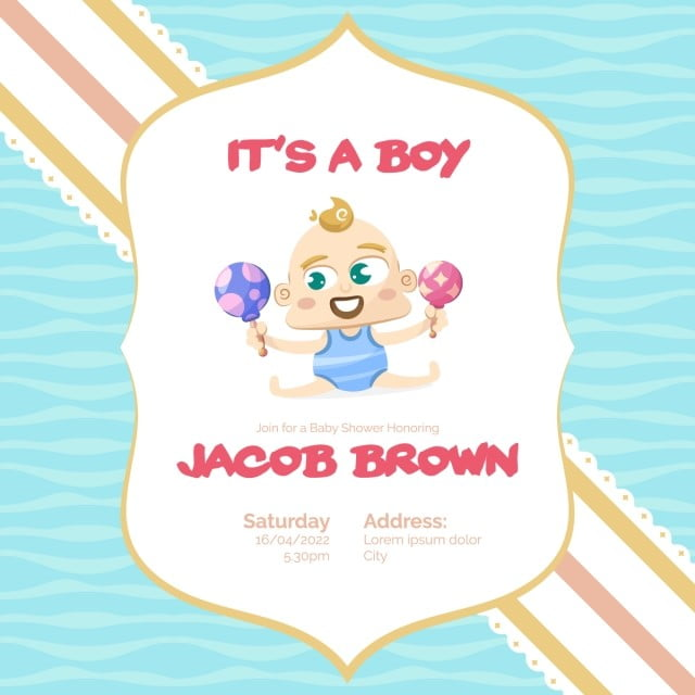 It S A Boy Baby Shower Background Baby Shower Boy Png And Vector With Transparent Background For Free Download