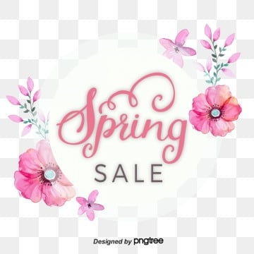 circular pink flowers promote spring visual elements, Promotion, Circular, Discount PNG and Vector