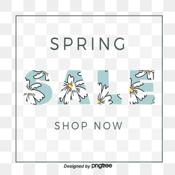 green flower texture box spring promotion spring visual elements, List, Promotion, Discount PNG and Vector