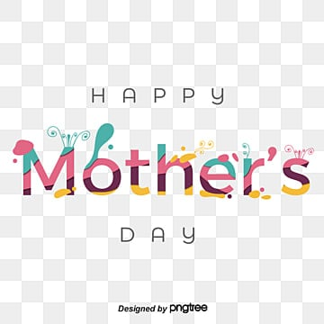 paper cut style splashing happy mothers day fonts Fonts