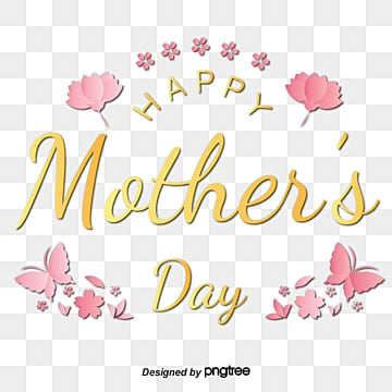 pink flowers  butterflies  yellow mothers day happy font Fonts