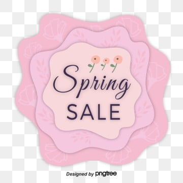 Pink Paper-cut Flowers Promote Spring Visual Elements, List, Promotion, Paper-cut PNG and Vector