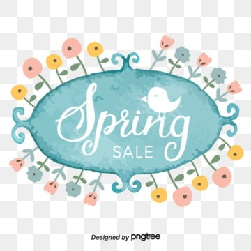 Watercolor Style Bird Flowers Spring Promotion Spring Visual Elements, List, Promotion, Little Bird PNG and Vector