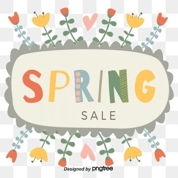 wave border graffiti wind flowers spring promotion spring visual elements, Promotion, Color, Discount PNG and Vector