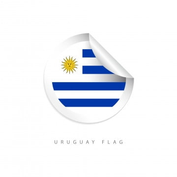 uruguay label flags vector template design illustration, Uruguay, Flag, Flags PNG and Vector