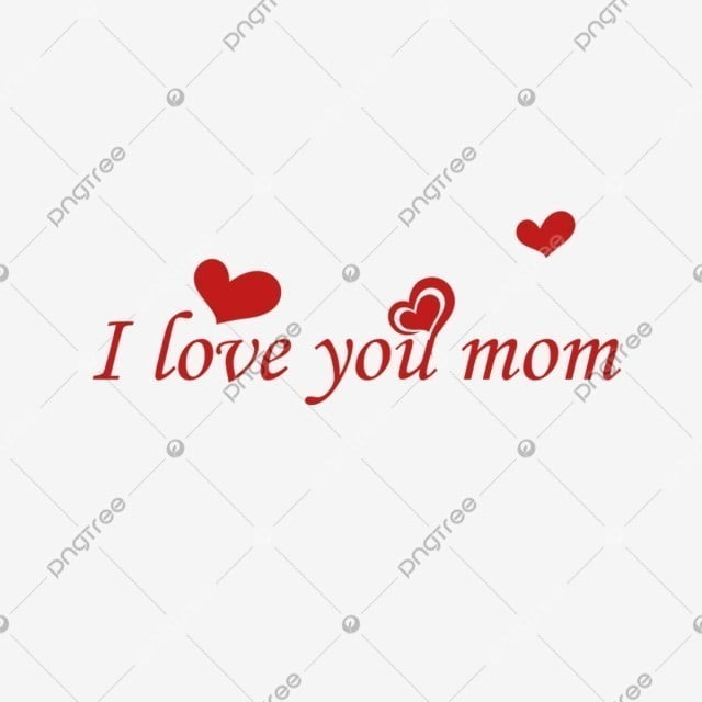 Beautiful Love Heart Design I Love You Mom Love Amour Hearts Png And Vector With Transparent Background For Free Download