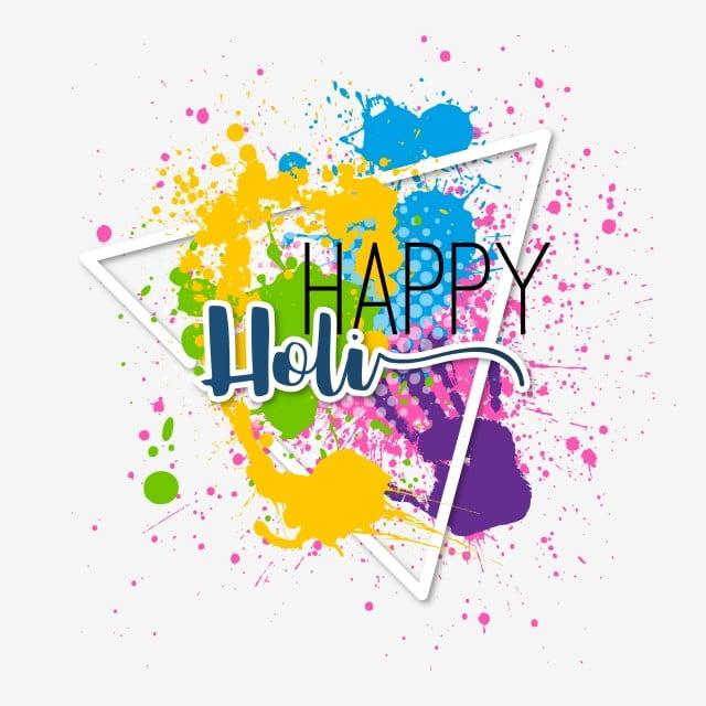 colorful happy holi illustration background
