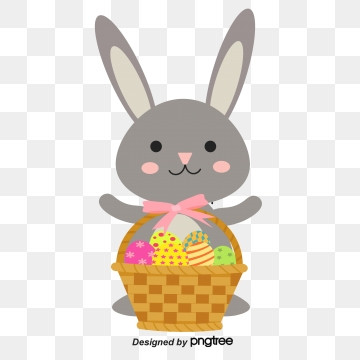simple hand-painted creative easter egg rabbit, Rabbit, Cartoon, Easter PNG and Vector