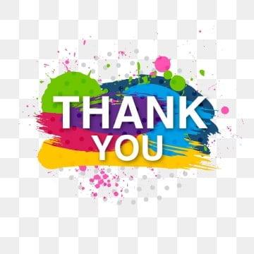 декоративные разноцветные спасибо предлагает кисть, Вы, поблагодарить, открытка PNG ресурс рисунок и векторное изображение