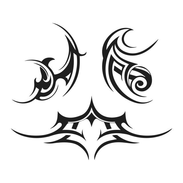 Resume Le Tatouage Tribal Image Vectorielle Animal Black Noir Et