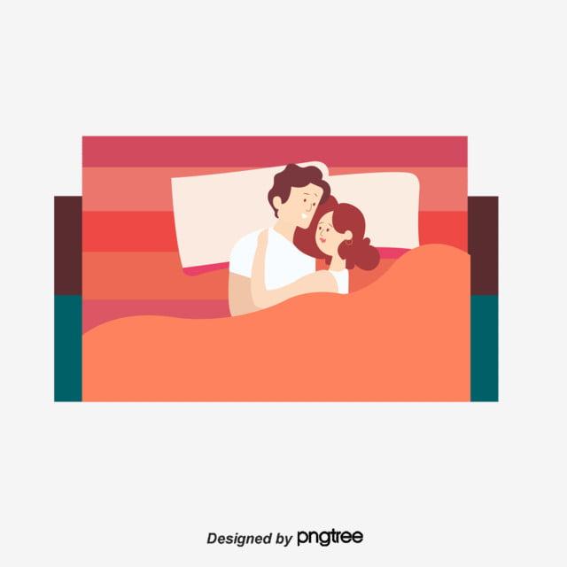Design Of Sleeping Elements For Cartoon Couples Cartoon Valentines
