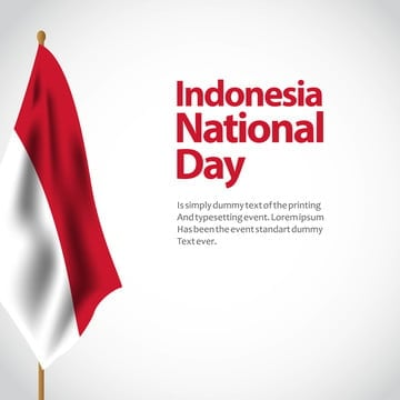 indonesia national day vector template design illustration, Indonesia, Independence, Flag PNG and Vector