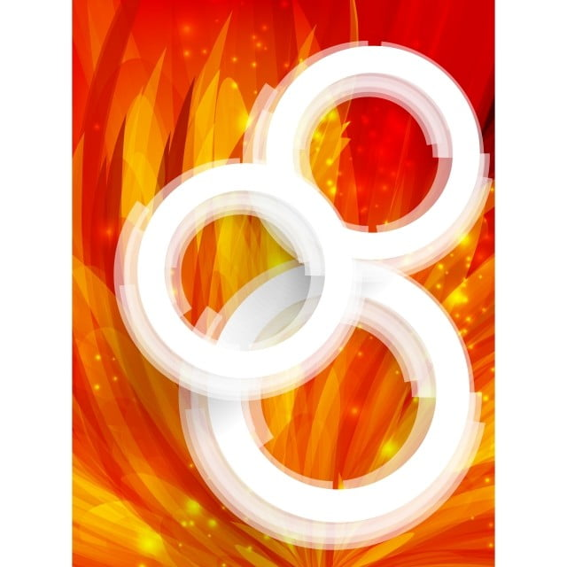 Vector Abstract Orange Banner Background With White Circles