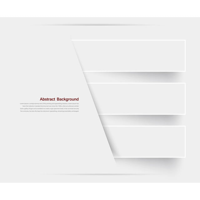 Vector Abstract Banner Background With White Paper And Blank