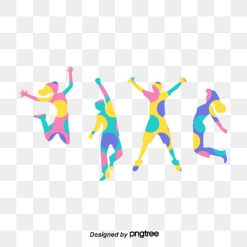 colorful silhouette characters of taiwan youth festival, Character, Silhouette, Taiwan PNG and Vector
