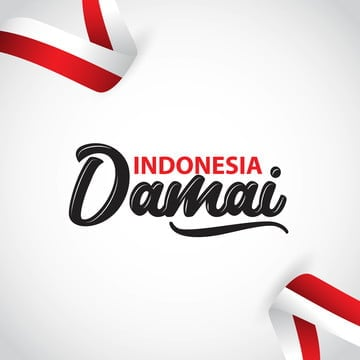 indonesia damai vector template design illustration, Indonesia, Independence, August PNG and Vector