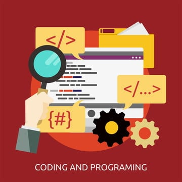 coding and programing conceptual illustration design, Banner, Coding, Code PNG and Vector