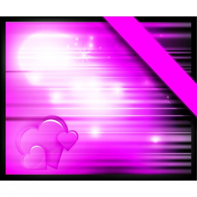 Vector Purple Abstract Background With Heart Frame Pink