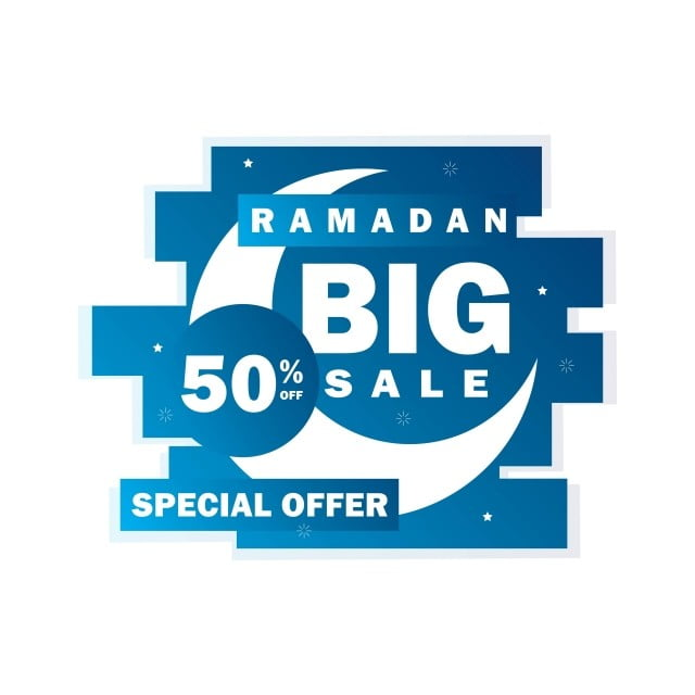 Ramadan Sale Banner Discount And Best Offer Tag Label Or