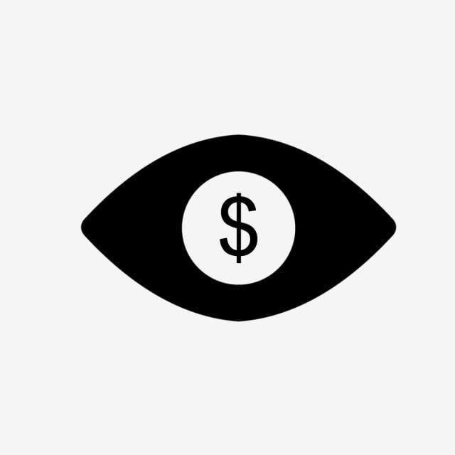 Vector Eye Dollar Icon, Dollar, Eye, Finance PNG and Vector