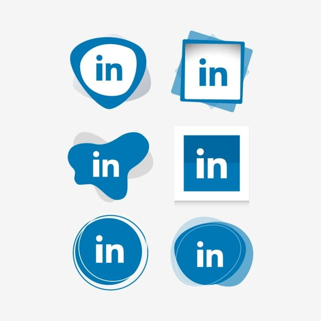 How Heavy Use Of Social Media Is Linked >> Linkedin Linked In Icon Logo Collection Set Social Media Vector