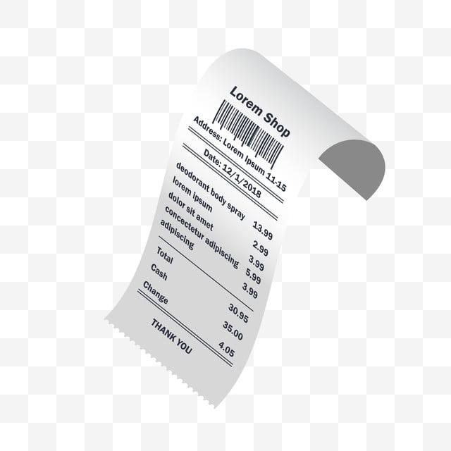 Deodorant Body Spray Receipt Printed, Accounting, Atm
