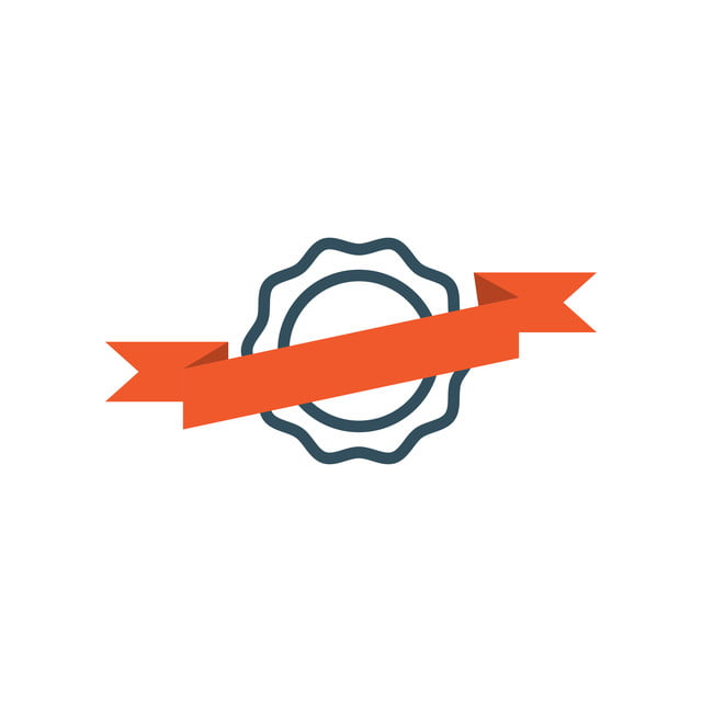 Ribbon Badge Icon Design Template Vector, Icon, Ribbon