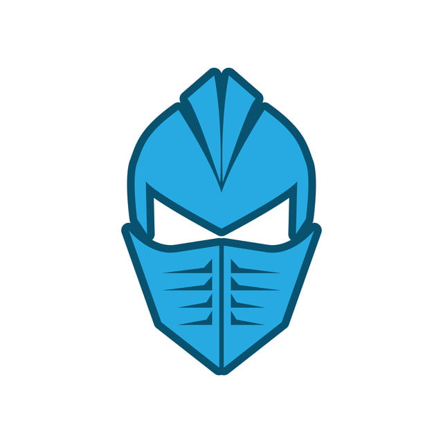 Solid Metal Face Mask Flat Vector Design, Armor, Knight ...