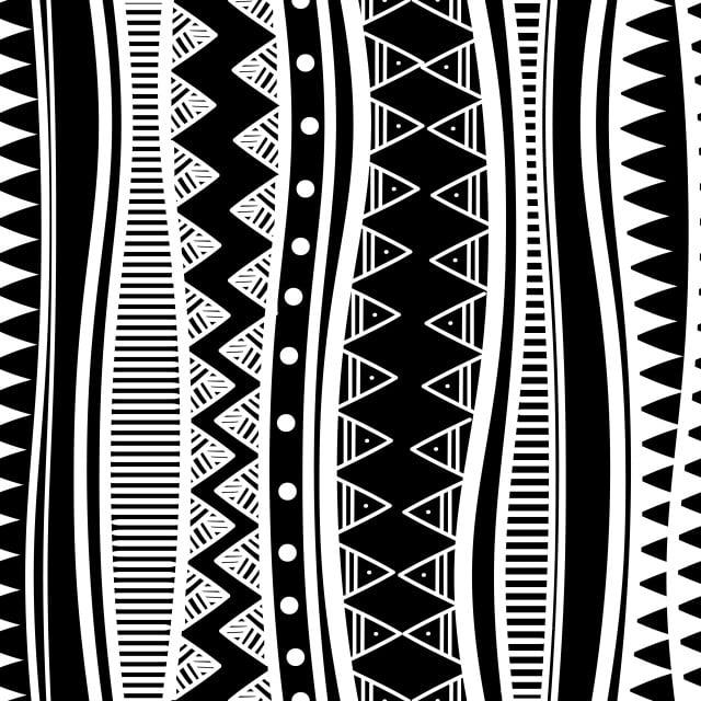 Antiguos Mayas étnicos Tribales Sin Patron Con Color Blanco Y Negro