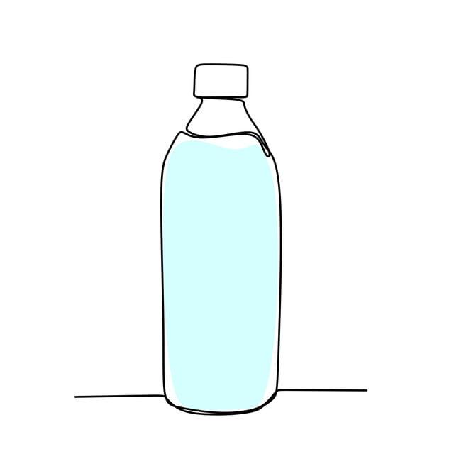 sports bottle drawing - 640×640