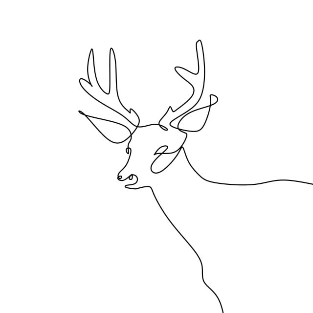 One Line Drawing Of Deer Vector Illustration Icon Nature Isolated Png And Vector With Transparent Background For Free Download