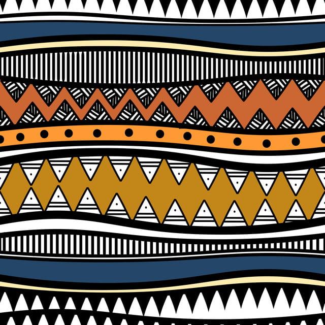 Retro Colors Tribal Vector Seamless Navajo Pattern Aztec
