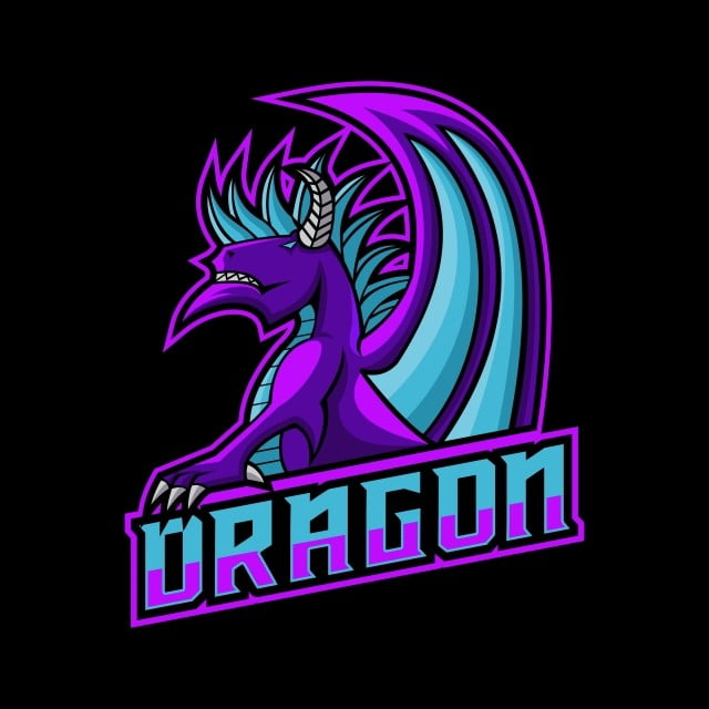 Dragon Gaming Logo Vector Illustration Aggressive Animal Arms Png And Vector With Transparent Background For Free Download