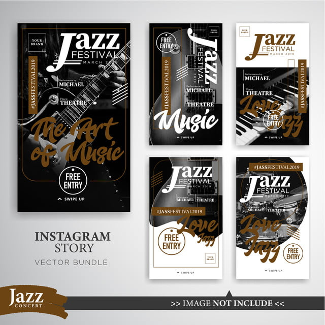 jazz or music festival instagram stories template instagram insta insta story png and