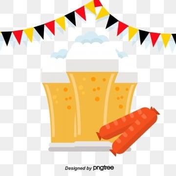 無料ダウンロードのためのドイツ国旗とパンソーセージビールカップ