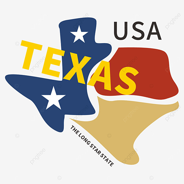 Geometric Retro Simple Texas Map Logo Geometric Creative Png And