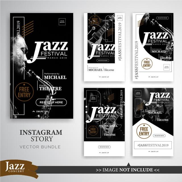 jazz oder musik festival instagram geschichten vorlage frei png und vektor