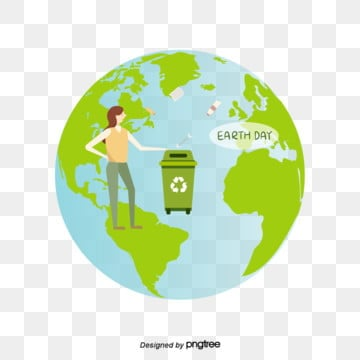 Green Earth Day Environmental Protection Refuses Garbage Illustration Elements, Protect, Protect The Earth, Earth Care PNG and Vector