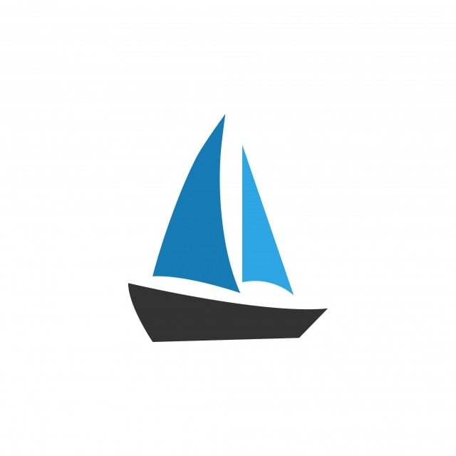 Sailboat Icon Design Template Vector Isolated, Sailboat