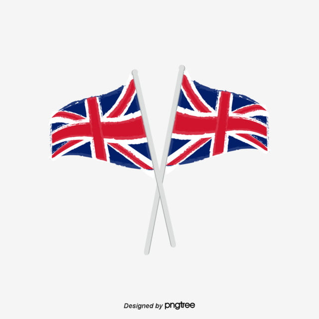 The British Flag Flying In Vector, National Flag, Flagpole ...