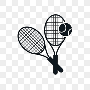 creative silhouette elements of british tennis racket tennis, Silhouette, Tennis, Tennis Racket PNG and Vector