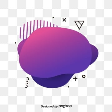 Purple-red Memphis Fluid Label Geometry, Banner Design, Geometric, Graphic PNG and Vector