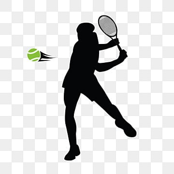 creative silhouette elements of british athletestennis rackets and tennis, Silhouette, Tennis, Tennis Racket PNG and Vector