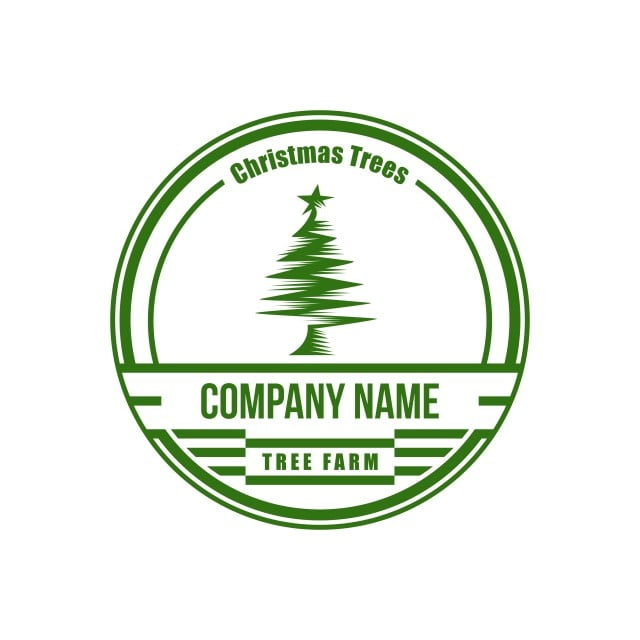 Christmas Tree Farm Logo.Christmas Tree Vintage Circle Amazing Design For Your