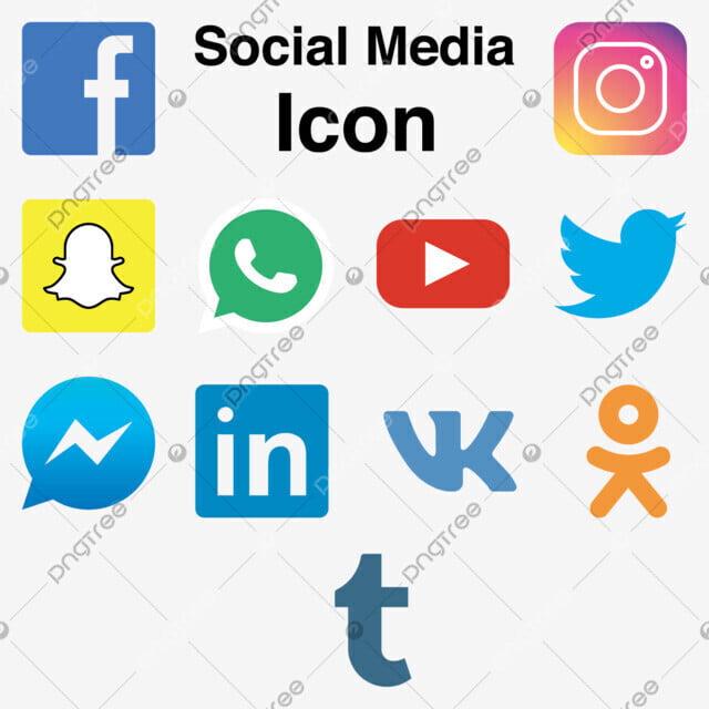 Vector Illustration Instagram: Social Media Logo Icon Set Flat Colorful Vector